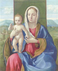 the madonna and child by girolamo da santacroce