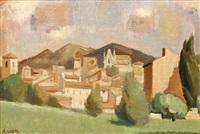 village provençal, entre et 1928 by andré lhote