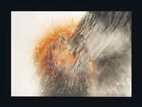 orange fire by otto piene