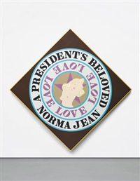 a president's beloved norma jean by robert indiana