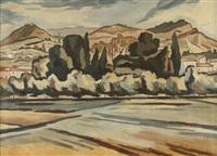 paesaggio toscano by alberto magnelli
