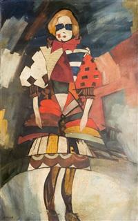 costume study by aristarkh vasilevich lentulov