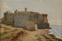view of nettuno, italy by evert louis van muyden