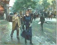 a busy parisian street by jose soler