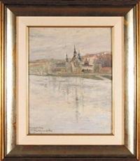 widok na kościół norbertanek w krakowie by stanislaw borysowski