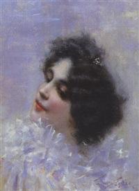 portrait de femme by antonio torres fuster