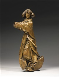 a relief of an angel in flight (collab. w/ workshop) by tilman riemenschneider