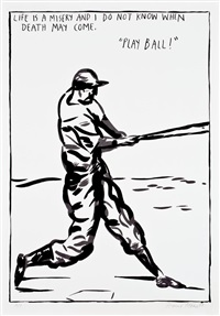untitled (play ball!) by raymond pettibon