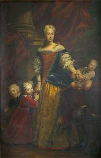 portrait d'une dame de qualité et de ses trois enfants by sebastiano ceccarini