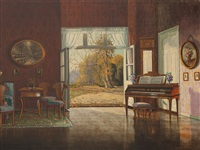biedermeier interior by ernst lorenz