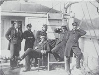 groupe d'officiers de marine à bord by paul-emile miot