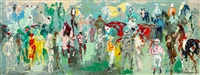 at the paddock by leroy neiman