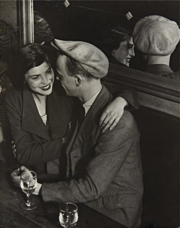 couple at the bal des quatre saisons rue de lappe by brassaï
