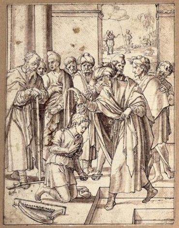 david anointed king by samuel by jan swart van groningen