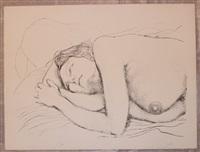 donna sul cuscino by guttuso renato