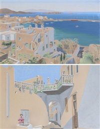 mykonos (+ another; 2 works) by roger tourte