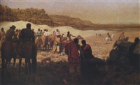 at a moqui navajo horse race by julian scott