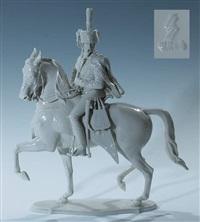 militärische figur garde-husar (designed by theodor kärner) by allach porzellanmanufaktur