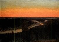 sunset by hilding werner