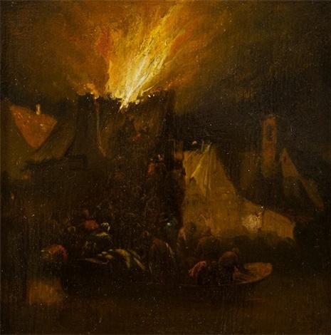 požár i by egbert lievensz van der poel