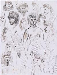etude de portraits de jeunes filles by édouard joseph goerg