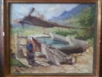 lavandière près d'un lavoir by richard durando-togo