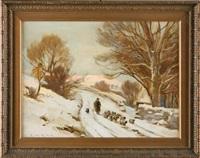 snowy sheep by ernest higgins rigg