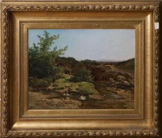paysage marécageux aux canards by anton altmann the younger