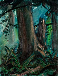 misty forest, b.c by arthur lismer