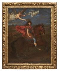 louis xiv à cheval couronné par la victoire by pierre mignard