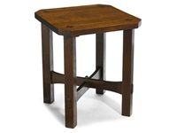 clip corner taboret by gustav stickley