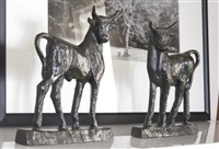 pair of taureaux sculptures by diego giacometti