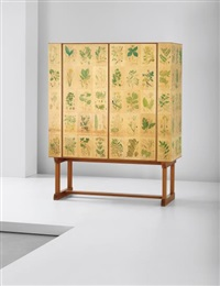 rare and early 'flora' cabinet by josef frank