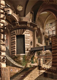 urban chiaroscuro 3: rome (after piranesi) by emily allchurch