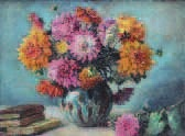 bouquet de dahlias by raymond (louis) le court