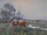 les vaches rousses by léon barillot