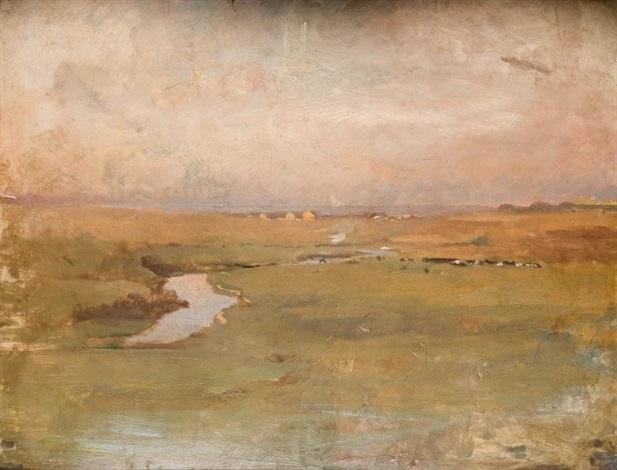 pejzaż z rzeką by tadeusz ajdukiewicz