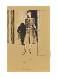 a molyneux dress design for femina by rené gruau
