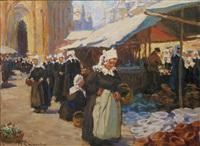 le marché breton animé by renée carpentier