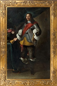 portrait de gentilhomme en cuirasse by louis (luigi primo) cousin