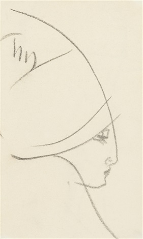 lady with hat by john duncan fergusson