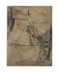 gran ocra amb incisions (large ochre with incisions) by antoni tàpies