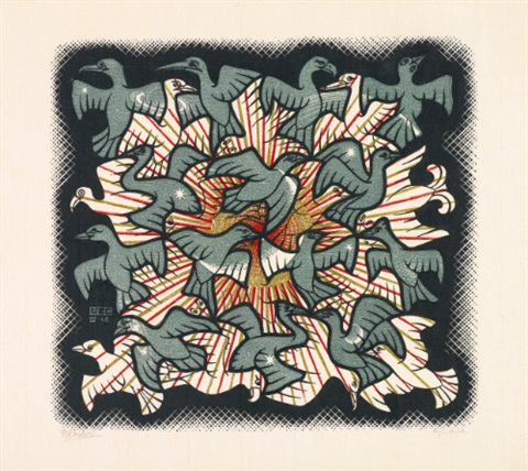 sun and moon by m c escher