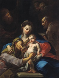 la sacra famiglia con santa anna: die heilige sippe by jackob zanusi
