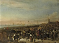 the departure of king charles ii from scheveningen on 24 may by cornelis beelt