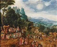 paysage avec la prédication de saint-jean-baptiste by herri met de bles