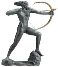 female archer (diana) by stella elkins tyler
