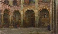 l'atrium de la basilique san ambrogio à milan by eugenio andreasi