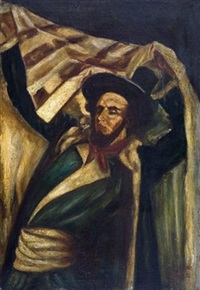 rabbi with talith by baruch agadati