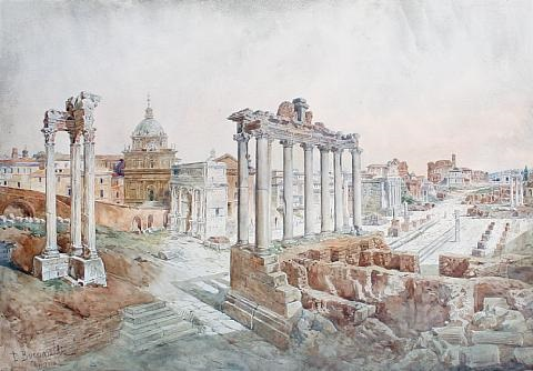 the forum rome by daniele bucciarelli